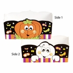 Paper Candy Tray: Halloween Ghost & Pumpkin