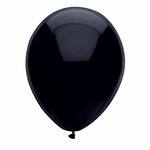 "11"" Pitch Black Latex Balloons"