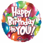 "17"" Happy Birthday To You Helium Savers Balloon"