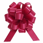 Medium Wine Satin Pull Bow
