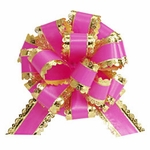 "6"" Hot Pink & Gold Pull Bow"