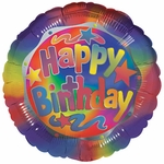 "17"" Birthday Bright Helium Savers Balloon"