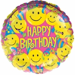 "17"" Birthday Smiles Foil Helium Savers Balloon"