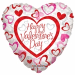 """18"""" HVD Patterned Hearts Balloon"""