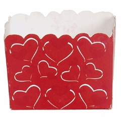 Candy Treat Box (Mini): Red & White Hearts