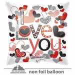 "18"" I Love You Trendy Hearts GelliBean Balloon"