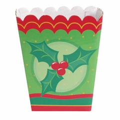 Candy Treat Box (Shallow): Christmas Holly