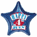 "18"" Happy 4th of July Balloon"