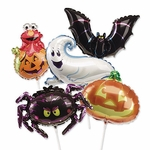 "14"" Halloween Air-Filled Shape Balloons"