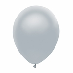 "11"" Shining Platinum Latex Balloons"