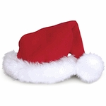 "Red Plush Santa Hat - 7"" wide"