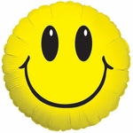 "17"" Smiley Face Foil Helium Savers Balloon"
