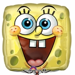 "17"" SpongeBob Square Face Helium Savers Balloon"