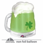St. Patty's Green Beer Mug See-Thru Shape Balloon