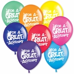 "11"" Great Assistant Latex Balloons"