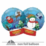 "18"" Christmas Snowball Clear View Shape Balloon"