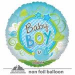 "18"" Baby Boy Bird Clear View Balloon"
