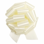 Extra Large Ivory Satin Pull Bow