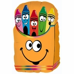 Crayon Smiley Box Shape Balloon