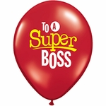 """16"""" To a Super Boss Latex Balloons"""