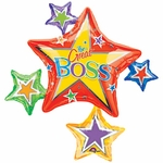 Boss's Day Star Cluster Shape Balloon