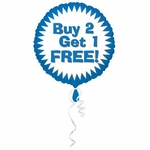 """18"""" Buy Two Get One Free Balloon with Ribbon"""