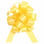 Medium Yellow Gold Satin Pull Bow