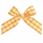 "5"" Orange & Yellow Plaid Bow"