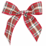 "5"" Christmas Bow Red/Green/White Plaid"