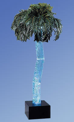 Aqua Palm Palm Tree Bubbling Water Fountains 96 inches  - click to enlarge