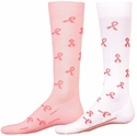 Pink Ribbon Sport Compression Socks - 2 Color Options