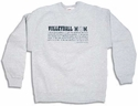 Volleyball Mom Dictionary Definition Crew Sweatshirt