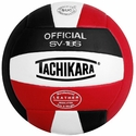 Tachikara Black-White-Red  SV-18S Volleyball