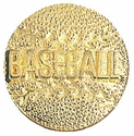 Baseball Gold Varsity Pin