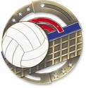 Colorful Volleyball Medal