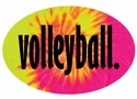 Tie-Dye Oval Volleyball Word Decal