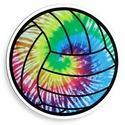 "Large 5-3/4"" Tie-Dye Volleyball Magnet"