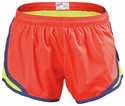 Soffe Neon Orange & Yellow w/ Blue Piping Track Shorts