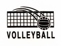 Volleyball w/ Net Design Discount T-Shirt - in 3 Shirt Colors