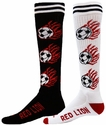 Flaming Soccer Knee High Socks - 2 Color Options