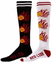 Flaming Softball Knee High Socks - 2 Color Options
