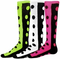 Half & Half Knee High Polka Dot Socks - 6 Color Options
