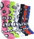 Peace Sign Knee High Socks
