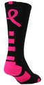 Pink Ribbon Baseline Aware Crew Socks