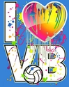 I Heart VB Design Turquoise Blue Volleyball T-Shirt