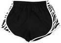 Pennant Black & Zebra Print Team Track Shorts