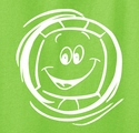 Smiley Face Design Volleyball Long Sleeve Shirt - in 16 Shirt Colors