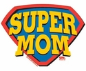 Super Mom Long Sleeve Shirt - in 18 Shirt Colors