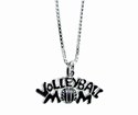 Volleyball Mom Silver Charm Necklace