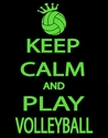 Keep Calm & Play Volleyball Design Black T-Shirt